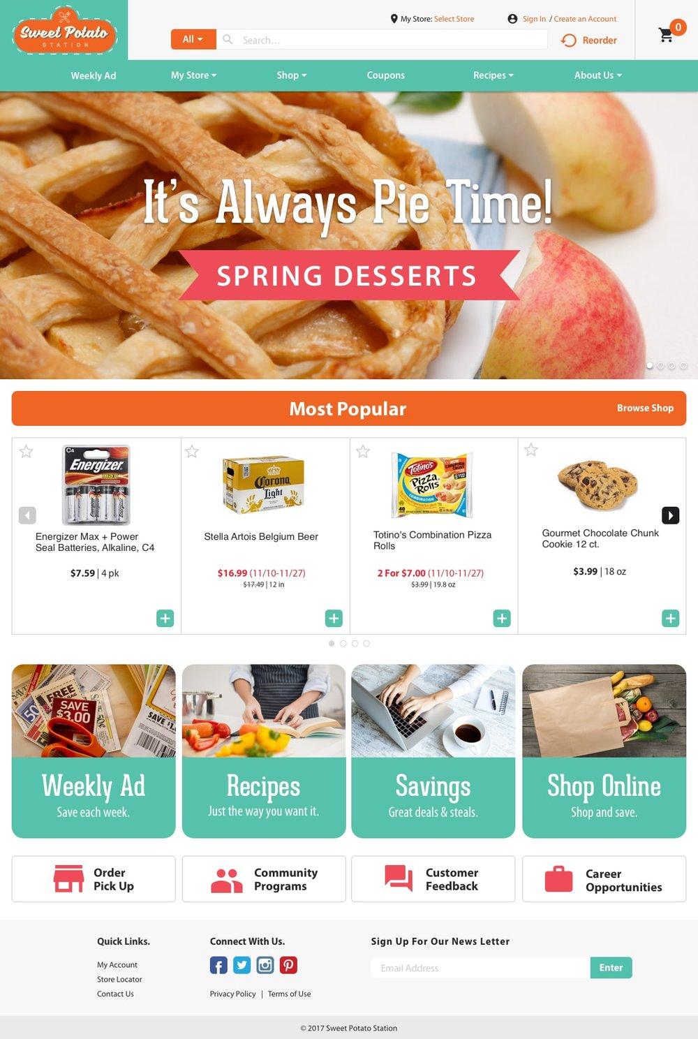 Freshop Themes: Sweet Potato