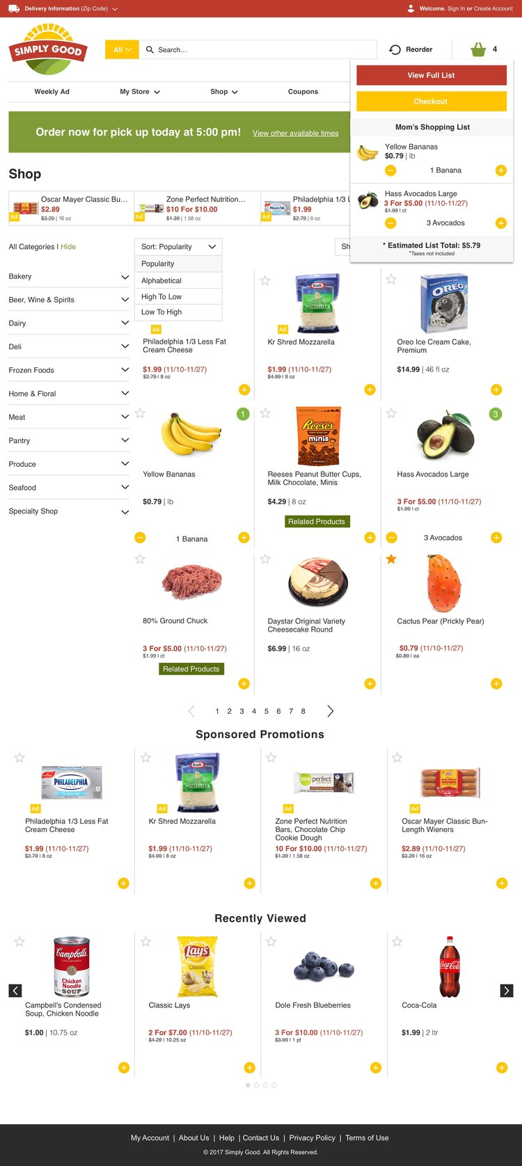 Freshop Themes: Simply Good Products