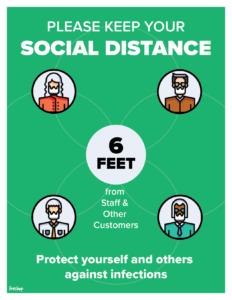 Social Distance Notification Flyer