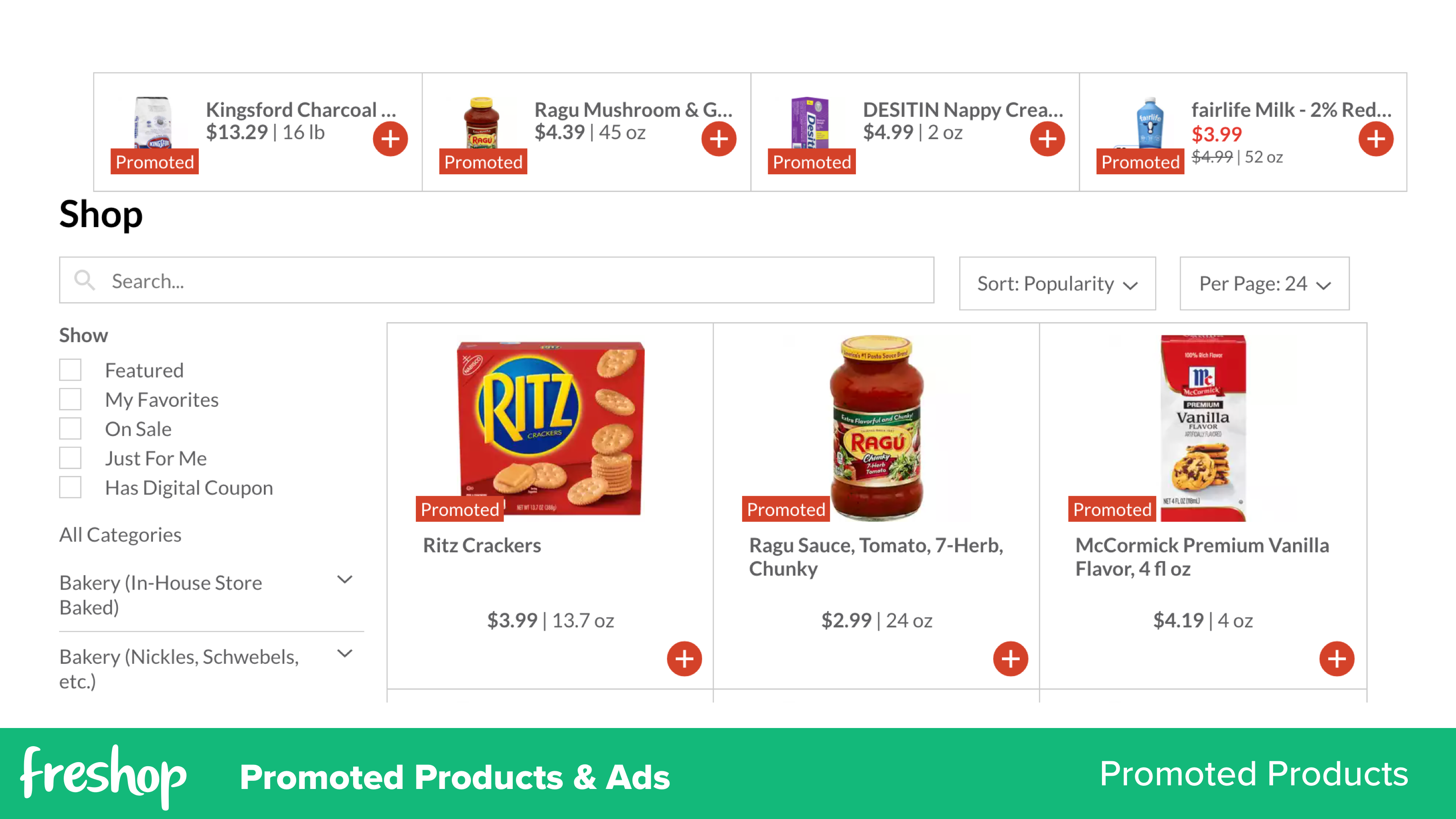 Freshop: Promoted Products & Ads   Promoted Products