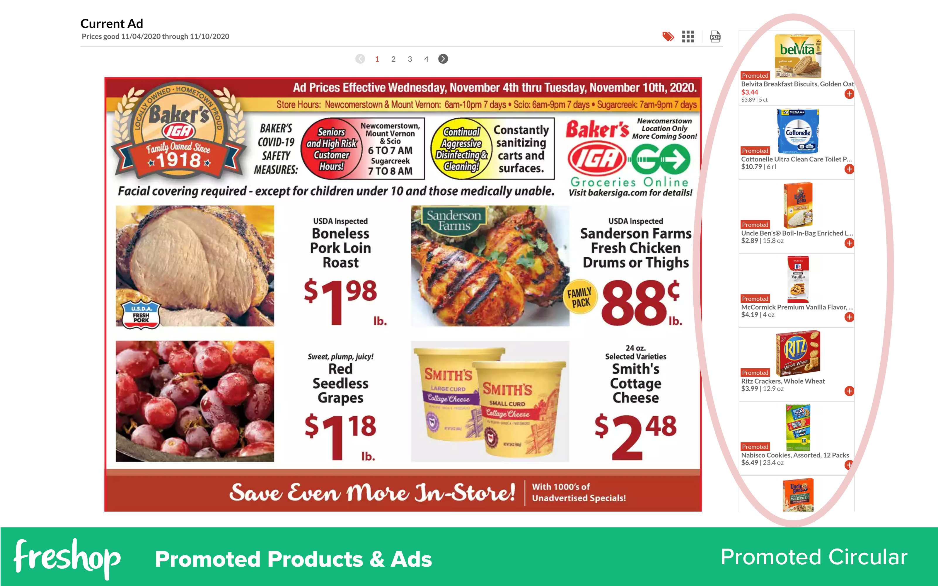 Freshop: Promoted Products & Ads   Promoted Products   Promoted Circular / Weekly Ad